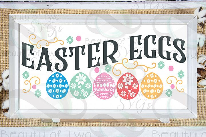 Easter Eggs svg, Farmhouse Easter svg, Easter sign svg,