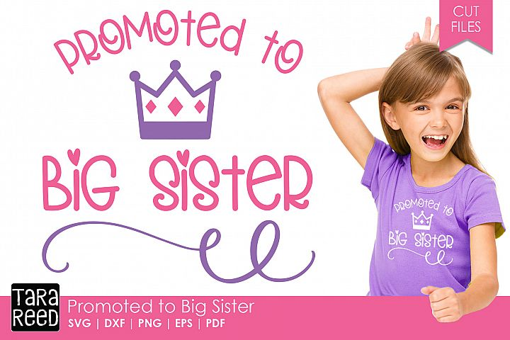 Promoted to Big Sister - Family SVG and Cut Files