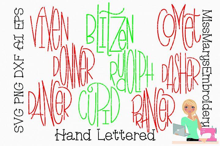 Reindeer Names SVG | Christmas SVG | Ornament Sayings SVG |