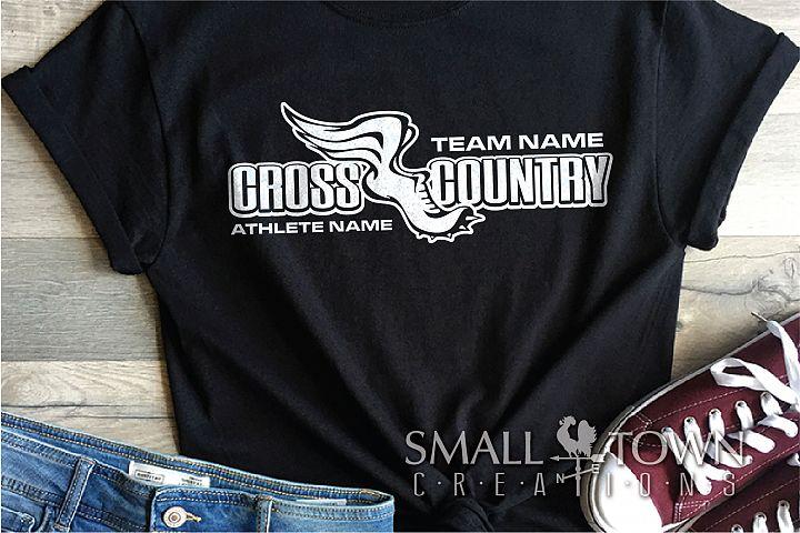 Cross Country, Team, Sports, Logo, PRINT, CUT & DESIGN