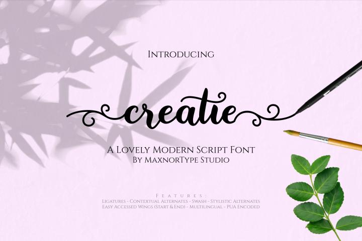 Creatie - A Lovely Modern Script Font
