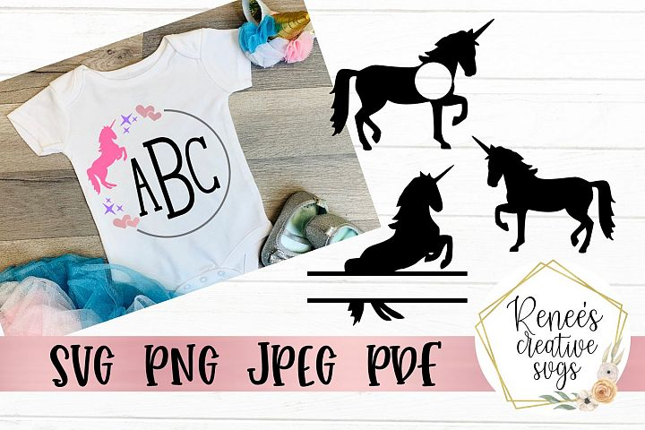 Unicorn Monogram Set | Unicorns | SVG Cutting File