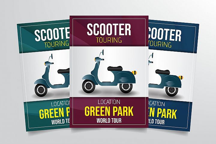 Scooter Touring Flyer Template