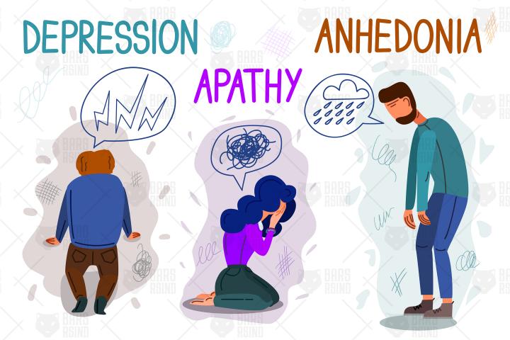Psychological Health Problems Illustration