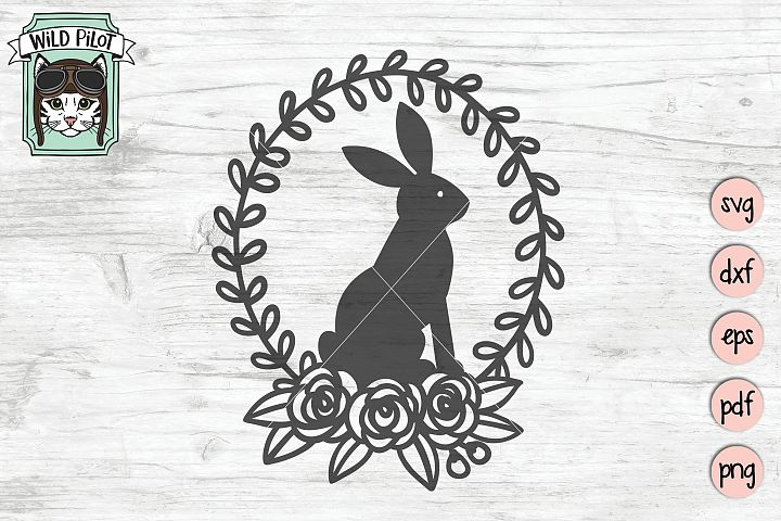 Rabbit SVG file, Bunny Rabbit cut file, Easter Bunny