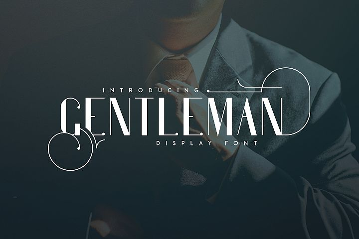 Gentleman font + 10 Logo Templates
