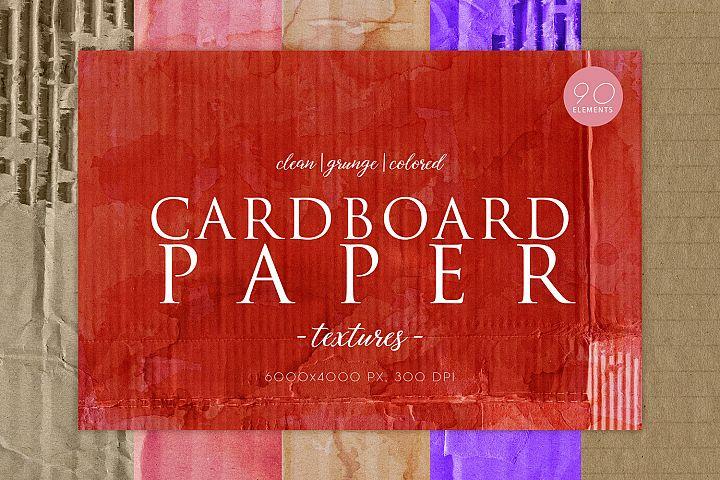 90 Cardboard Paper Textures