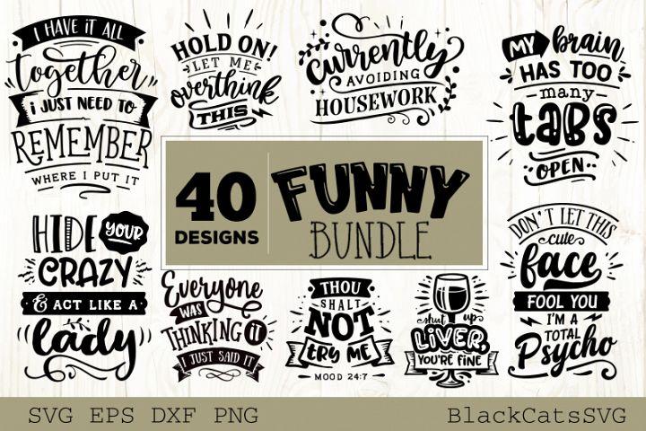 Funny SVG bundle 40 designs