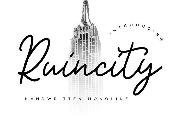 Ruincity Handwritten Monoline