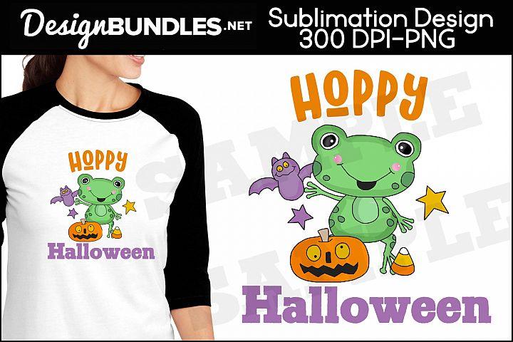 Hoppy Halloween Sublimation Design