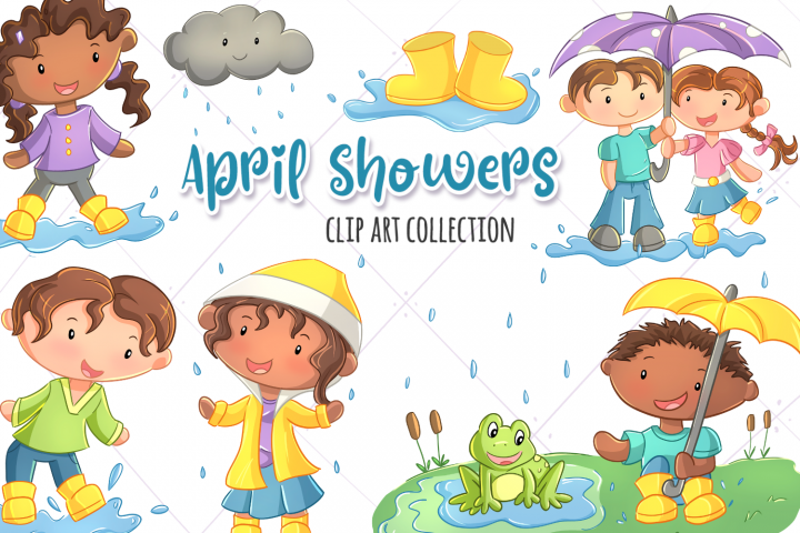 April Showers Clip Art Collection