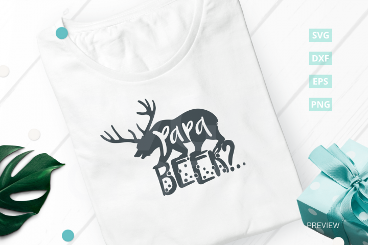 Papa Beer-Bear SVG Cut File