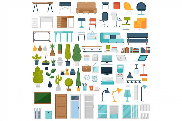 Home and Office Interior Elements Constructor