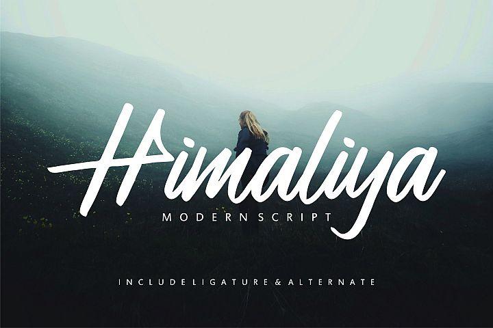 Himaliya | Handwritting Script Font