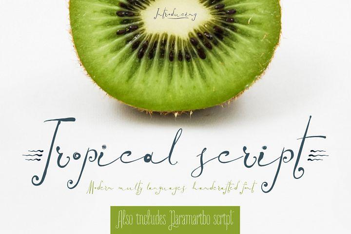 TROPICAL script