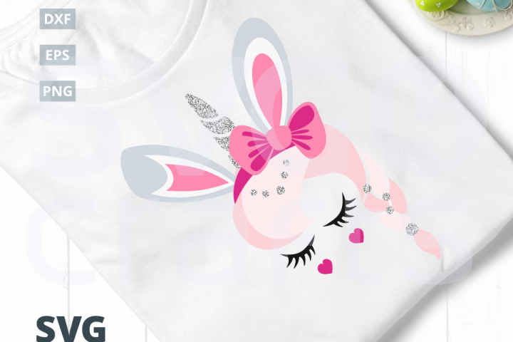 Bunny Unicorn SVG Cut File, svg, dxf,eps, png
