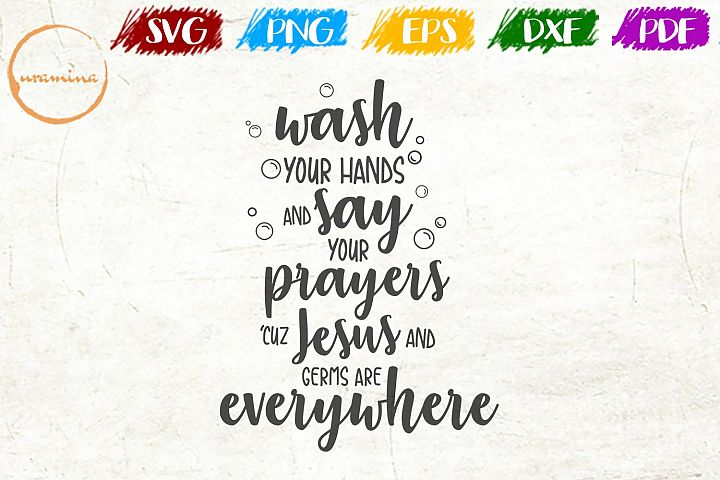 Say Your Prayers Bathroom SVG PDF PNG