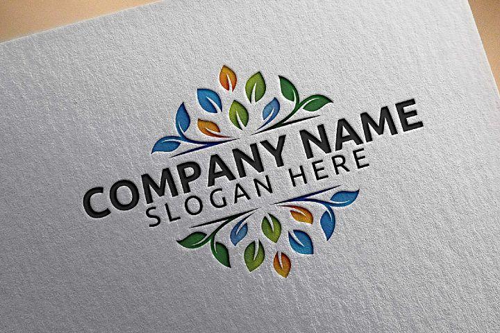 Green leaf ecology v3 logo template