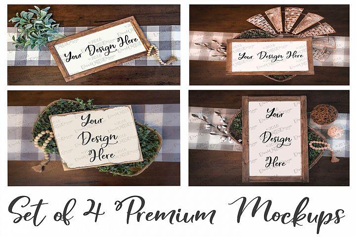 4 Premium Farmhouse Style Mock up Mock ups Mockups Bundle