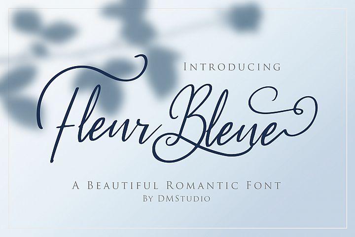 Fleur Bleue - Beautiful Romantic Font
