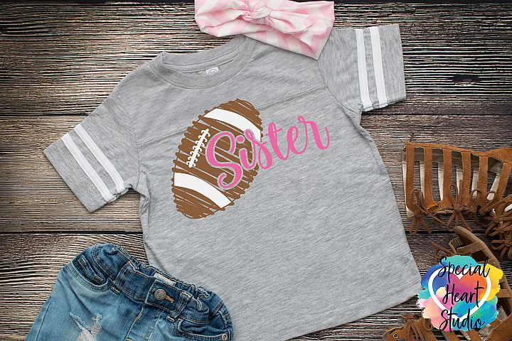 Football Sister - A Football SVG Cut File to cheer brother