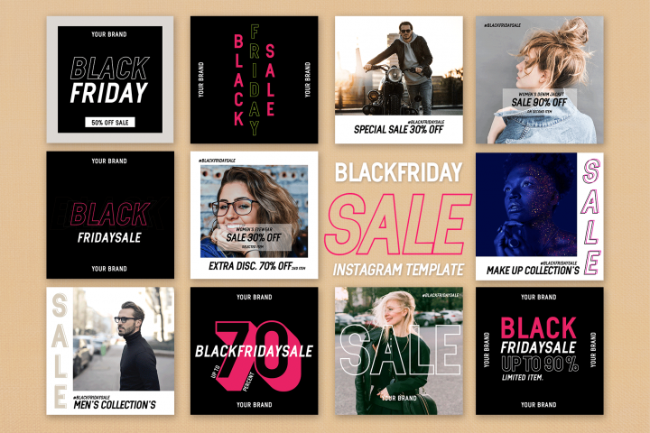 Instagram Feed Black Friday Sale Template
