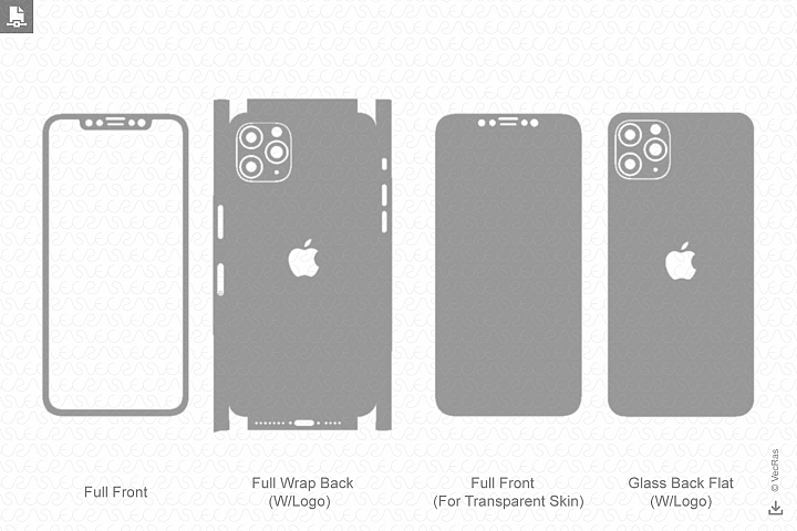iPhone 11 Pro 2019 Skin Template Vector