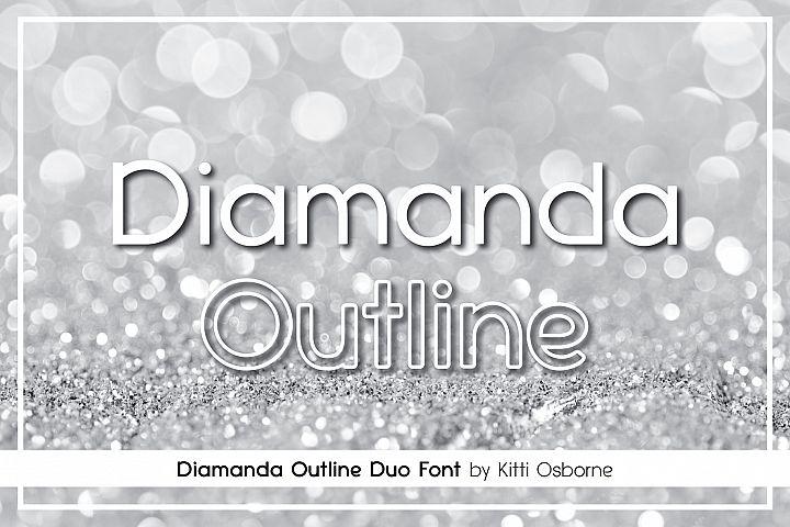 Diamanda Oulines Duo Font
