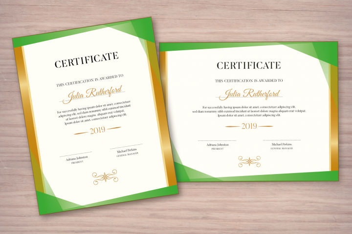 Certificate Template Editable