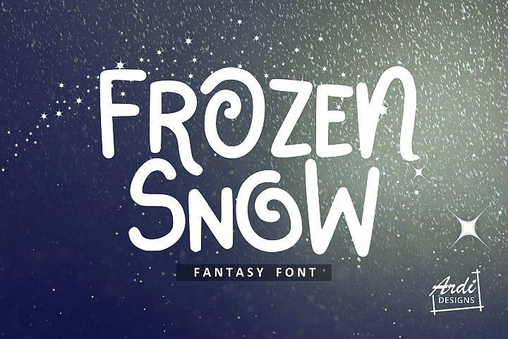 Frozen Snow Font