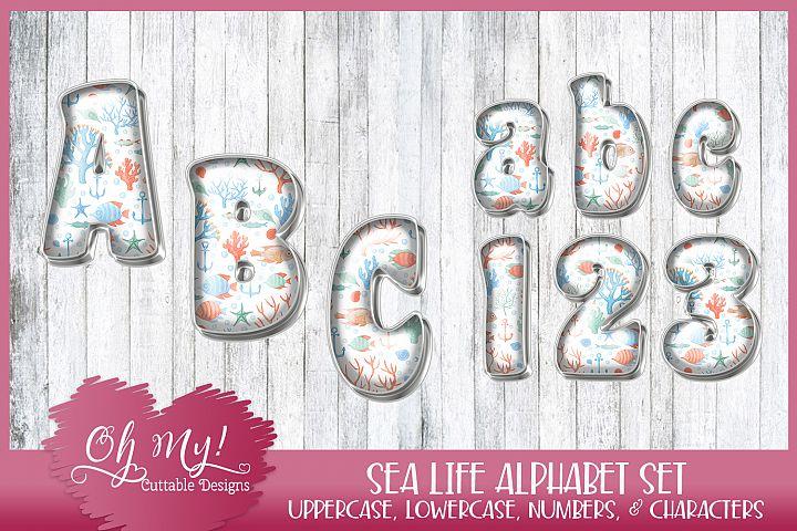 Sea Life Alphabet Bundle Clipart Graphics