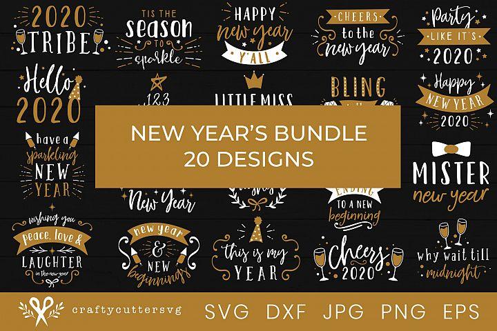 New Years Svg Bundle 20 designs Svg Cut File