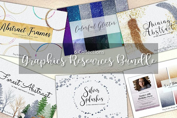 6 Collections of Graphics Resources Bundle