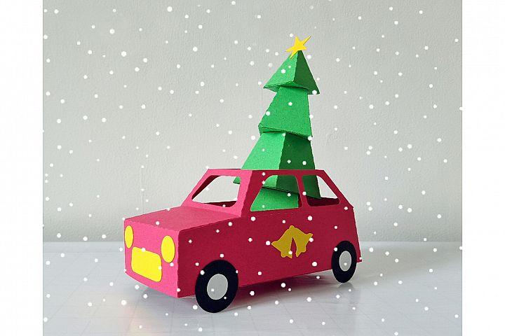 DIY Christmas car - 3d papercraft