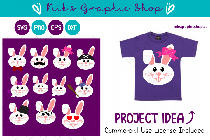Easter bunny svg, Easter Svg, Bunny Svg, Easter Graphic