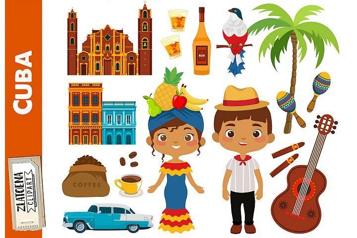 Cuba clip art Havana clip art Cuba clipart Travel clipart