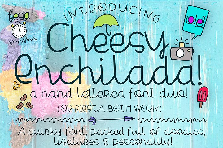 Cheesy Enchilada Font Duo