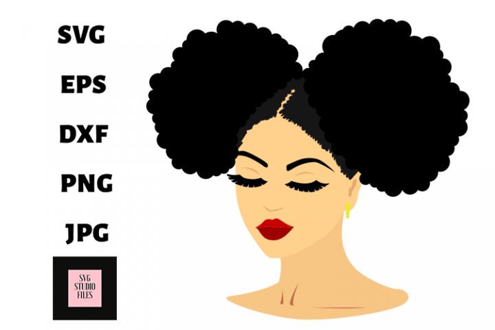 Black Woman SVG ,Afro Woman SVG, Afro Lady SVG files