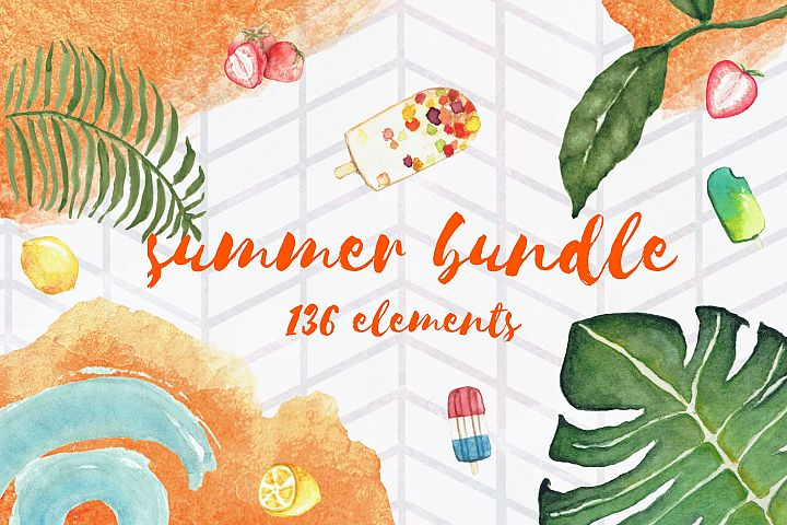 Summer Bundle - watercolor illustrations