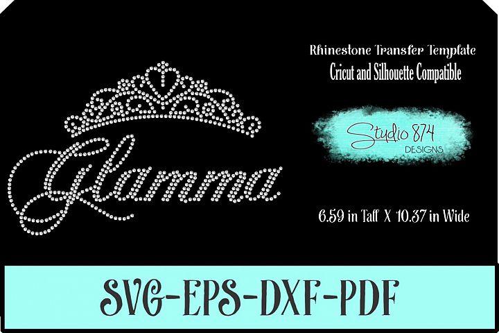 Glamma Rhinestone SVG Template R1