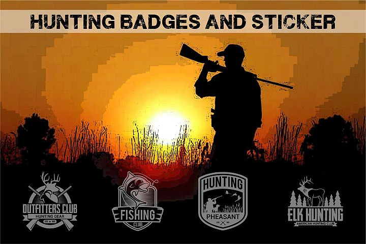 HUNTING Badges and Logo