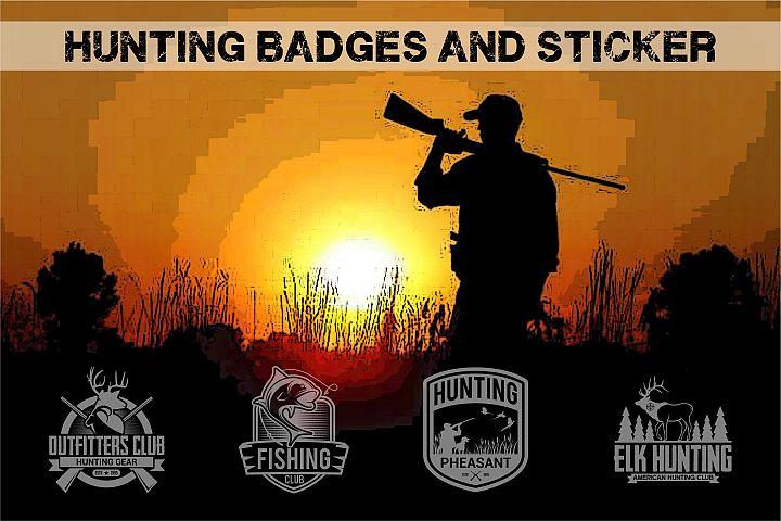 HUNTING Badges and Logo
