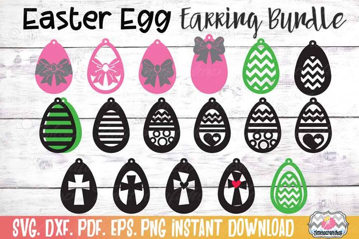 Easter Earring Bundle, Easter Egg Earrings, Cross Earrings