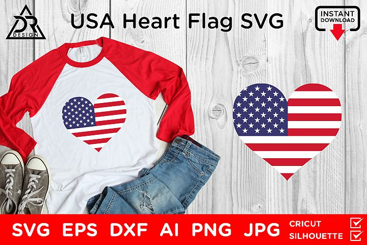 USA Heart Flag