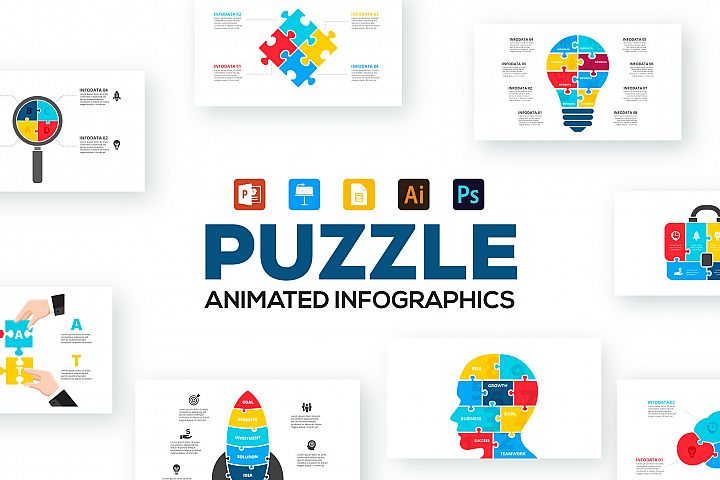 Puzzle Animated Infographics