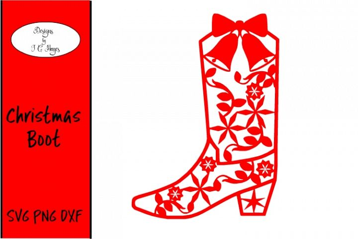 Christmas/Holiday Boot, SVG, Paper Cut