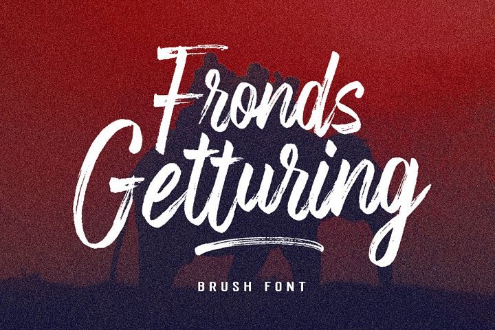 Fronds Getturing Brush Font