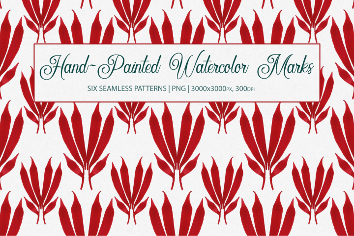Watercolor Marks Seamless Patterns