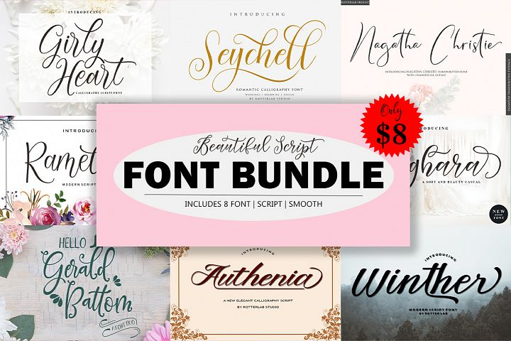 Beautiful Script FONT BUNDLE