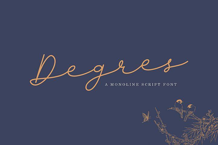 Degres Monoline Script
